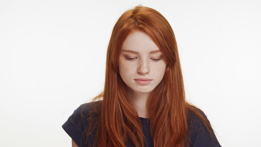 Young teen redhead video