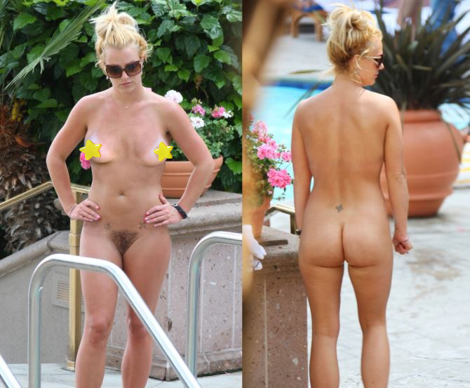 Britney spears showing her pussy